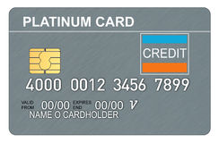 Platinum credit card vector illustration