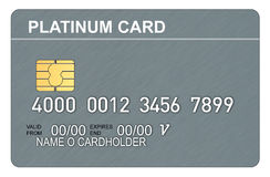 Platinum credit card Royalty Free Stock Photos