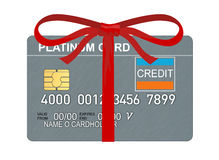 Platinum Credit Cards With Ribbons Royalty Free Stock Photography