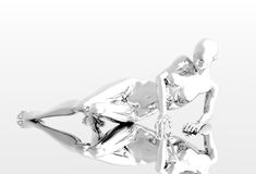 Platinum girl Royalty Free Stock Image