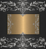 Platinum with gold banner Stock Images