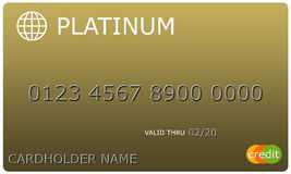 Platinum gold Credit Card Stock Image