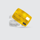 Platinum and Golden Bank Cards. Platinum and Golden Bank Debit or Credit Cards for VIP Clients. Vector EPS 10 Stock Photo
