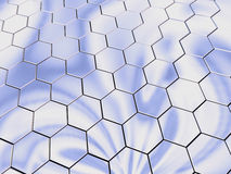 Platinum hexagons Stock Photos