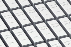 Platinum Ingots Royalty Free Stock Photos