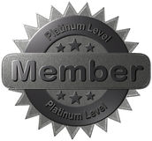 Platinum Level Member (Seal) Stock Photo