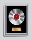 Platinum LP frame Royalty Free Stock Images