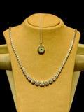 Platinum necklace royalty free stock photo