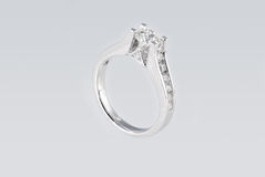 Platinum ring with diamonds Stock Photography