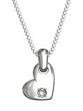 Platinum or silver pendant in shape of heart Royalty Free Stock Images