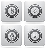 Platinum Square 2D Icons Set: Abstract Stock Images