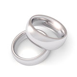 Platinum Wedding Rings Royalty Free Stock Image
