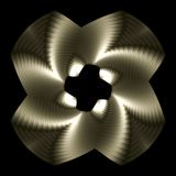 Platinum whirligig. Abstract fractal image resembling a platinum whirligig Stock Photos