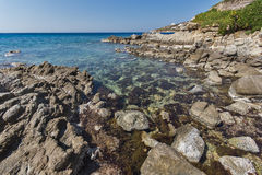Platis Gialos Beach on the island of Mykonos, Cyclades Islands Stock Images