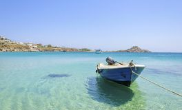 Platis Gialos beach, Mykonos, Greece Royalty Free Stock Photography