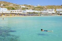 Platis Gialos beach, Mykonos, Greece Stock Images