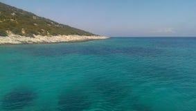 Platis Gialos sur l'île de Leros Image libre de droits