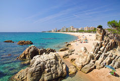 Platja d`Aro,Costa Brava Stock Photography