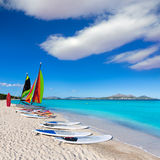 Platja de穆罗角埃斯波兰萨海滩Alcudia海湾马略卡 免版税库存照片