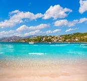 Platja de Alcudia Auanada beach in Mallorca Royalty Free Stock Photo