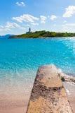 Platja de Alcudia Aucanada beach in Mallorca Royalty Free Stock Image