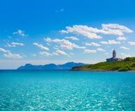 Platja de Alcudia Aucanada beach in Mallorca Stock Images