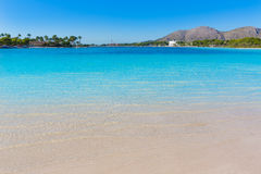 Platja de Alcudia beach in Mallorca Majorca. At Balearic islands of Spain Stock Image