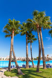 Platja de Alcudia beach in Mallorca Majorca. At Balearic islands of Spain Royalty Free Stock Photos
