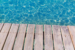 Platja de Alcudia beach pier in Mallorca Majorca Royalty Free Stock Photos