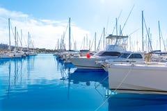 Platja de Alcudia marina i Mallorca Majorca Royaltyfri Foto