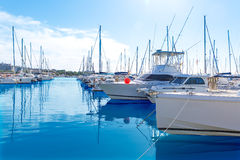 Platja de Alcudia marina in Mallorca Majorca Royalty Free Stock Photo