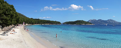 Platja de Formentor beach , Mallorca , Spain Stock Images