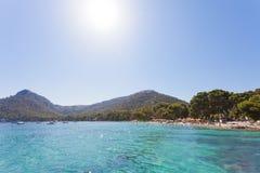 Platja de Formentor, Mallorca - Heavenly atmosphere at the dream. Platja de Formentor, Mallorca, Spain - Heavenly atmosphere at the dreamily beach of Platja de Royalty Free Stock Photography
