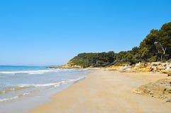 Platja de la Roca Plana, Tarragona, Espagne Image libre de droits