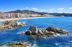 Platja de Lloret beach in Lloret de Mar, Spain Royalty Free Stock Photos
