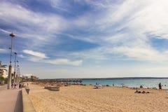 Platja de Palma de Mallorca, Baleares, Spain Royalty Free Stock Images