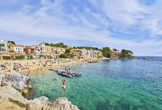 Free Platja Del Canadell, The Large Beach Of Calella De Palafrugel, Costa Brava, Girona, Spain.l Stock Images - 132182554