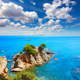 Platja Fenals Beach in Lloret de Mar Costa Brava Royalty Free Stock Photography