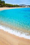 Platja Fenals Beach in Lloret de Mar Costa Brava Royalty Free Stock Photography