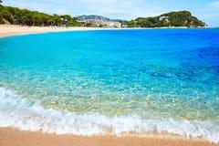 Platja Fenals Beach in Lloret de Mar Costa Brava Stock Photos