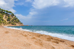 Platja Fonda Beach in Costa Brava, Spain royalty free stock photography
