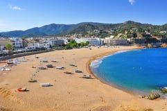 Platja Gran beach in Tossa de Mar, Spain Royalty Free Stock Photos