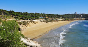 Platja Llarga beach, in Salou, Spain Royalty Free Stock Image