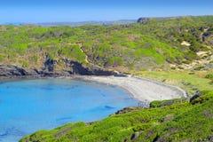 Platja meliny Tortuga plaża przy Menorca Obraz Stock