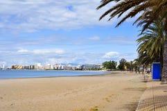 Platja Nova beach in Roses, Spain Stock Image