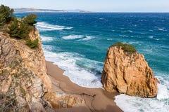 Platja Roja plaża w Costa Brava Zdjęcie Royalty Free