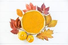 Plato americano tradicional para el día de la acción de gracias en el tiempo del otoño Foto de archivo libre de regalías