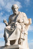 Plato,ancient greek philosopher. Statue of the famous greek philosopher Plato stock photo