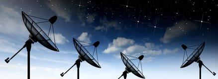 Plato basado en los satélites Imagen de archivo
