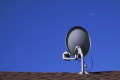Plato basado en los satélites de la televisión Fotos de archivo libres de regalías